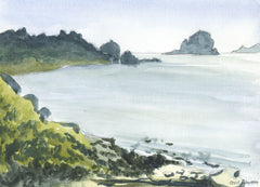 Cecil Riley - Great Porth, Bryher, 1994 Original Watercolour Painting