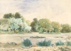 W. Fowler - On the Eden, 1872 Original Watercolour