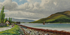 Cur Loch - J. C. Semple, Original 1902 Oil Painting