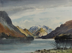 E. Grieg Hall - Mountain Lake, Mid 20th Century Watercolour