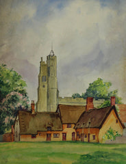 Village Church - Mid 20th Century Watercolour