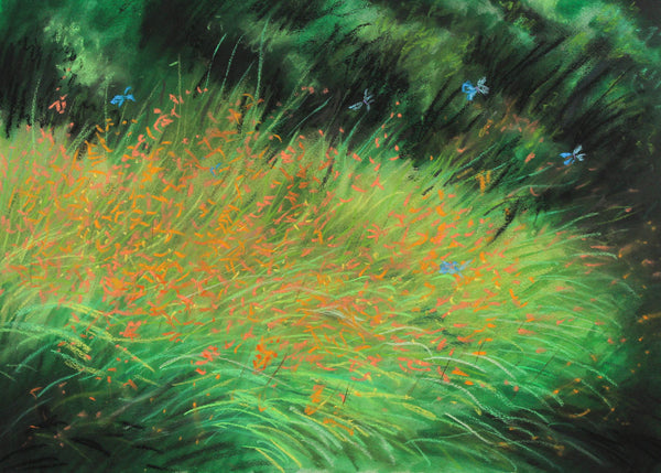 Cecil Riley - Undergrowth, Original Contemporary Mixed Media Painting