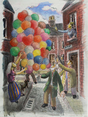Cecil Riley - Balloon Man, 2000 Mixed Media