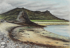 Cecil Riley - The Cornish Coast, Original 1994 Pastel Drawing