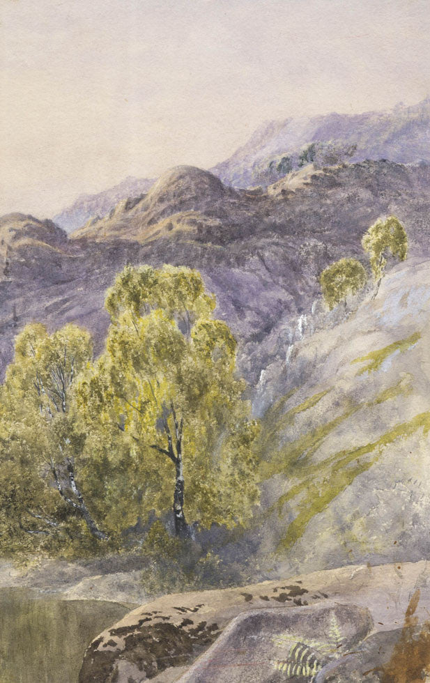 Susannah Matkin - Scottish Mountains, Original 19th Century Watercolour Painting