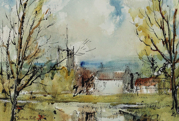 Arthur Pitt - The Stour, 1979 Original Watercolour Painting