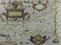 Map of Cornwall - Contemporary Lithograph