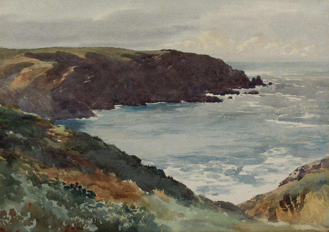 Plemont Point, Jersey - Mid 20th Century Watercolour