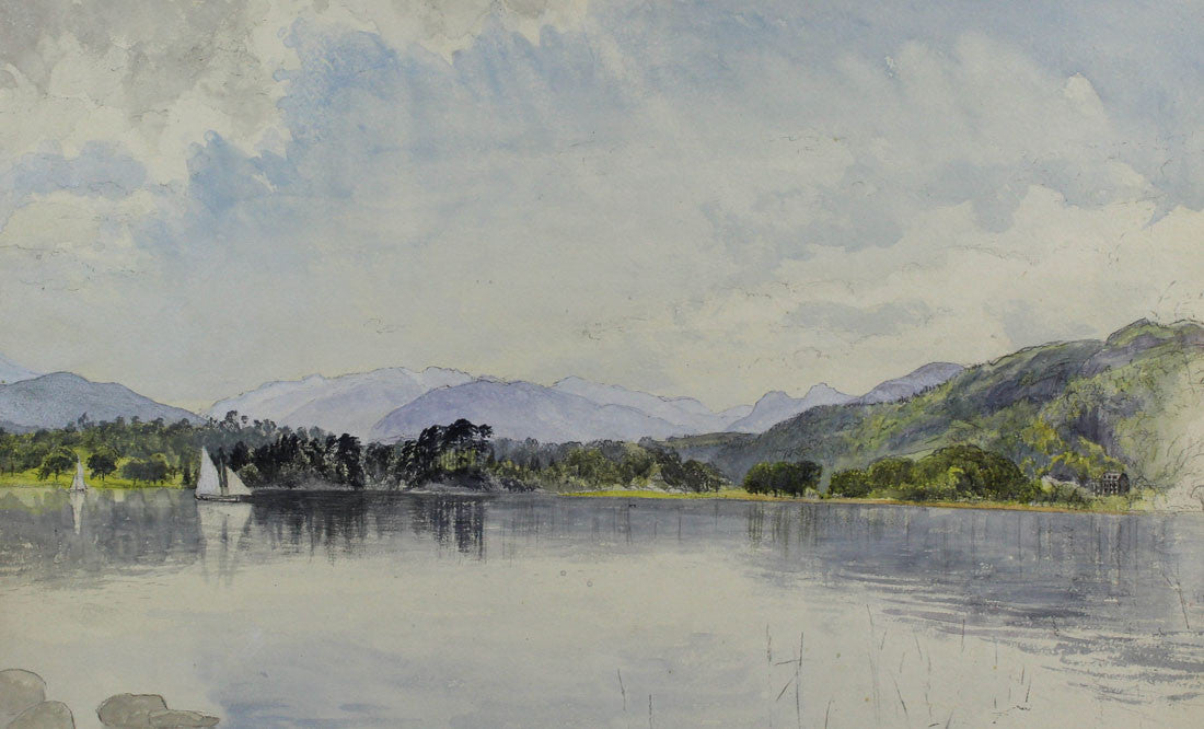 Susannah Matkin - Lakeland Scene, 19th Century Watercolour