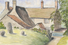 Norah Perry - Set of 4 Watercolours, Buildings, 1990