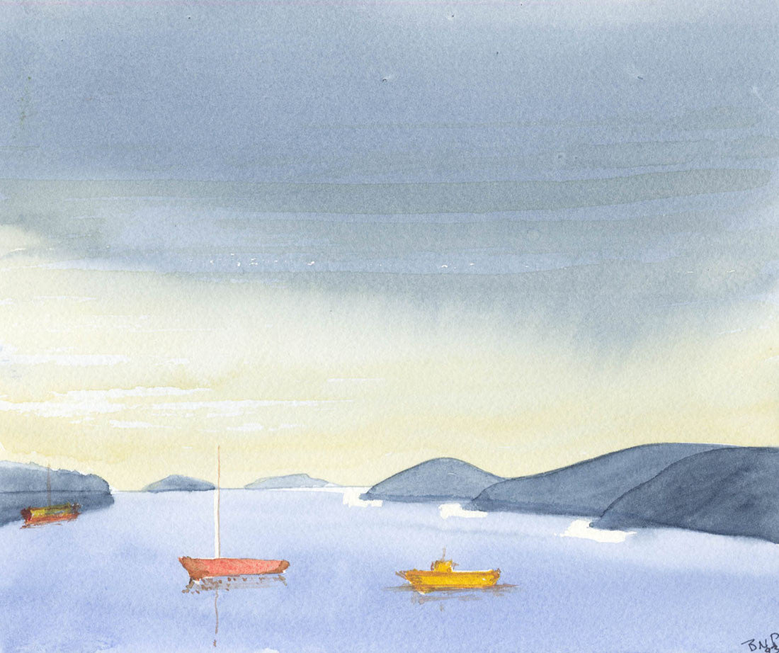 Norah Perry - Rain Approaching, 1993 Watercolour