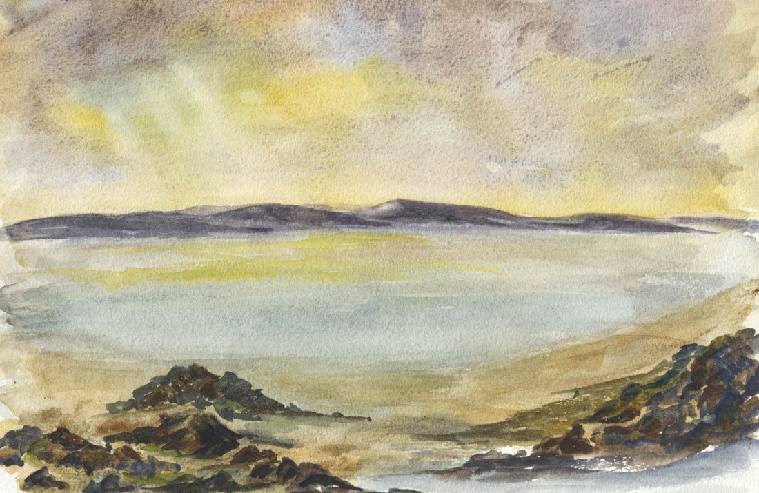 Norah Perry - Evening Light, Contemporary Original Watercolour Painting