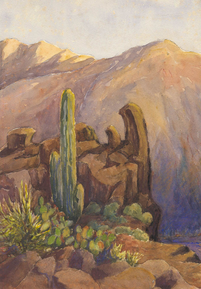 Canyon - Mid 20th Century Watercolour