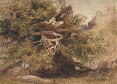 Manner of Paul Sandby - Old Oak, 19th Century Watercolour