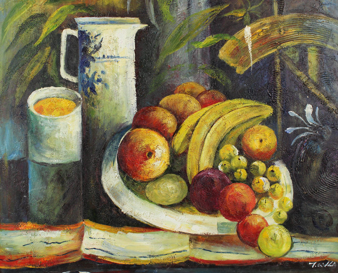 Still Life Composition - Original 20th Century Oil Painting