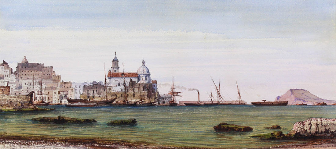 Italian School - Pozzuoli, Italy, 1865 Watercolour