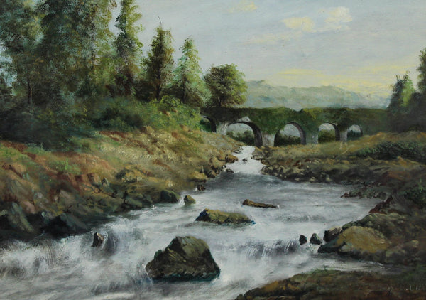 W. E. Cox - Kenmore Falls, 1876 Oil Painting