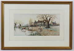 Fred Fitch - Village Scene, Early 20th Century Watercolour