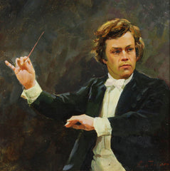 Vladimir Belsky - The Conductor, Contemporary Oil