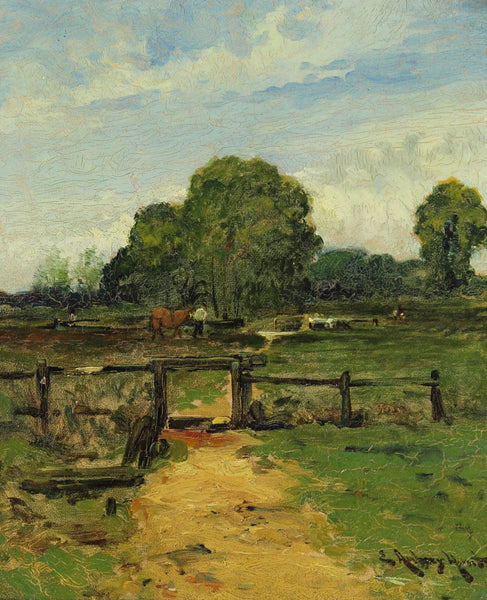 Edmund Aubrey Hunt - Rural Scene, 19th Century Oil