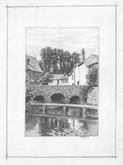 Bosham, Sussex - W. Davis, Original 1936 Pencil Drawing