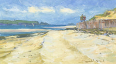 Dugald Stark - Cornish Beach, Mid 20th Century Oil