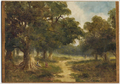 Afternoon Walk - Early 20th Century Oil