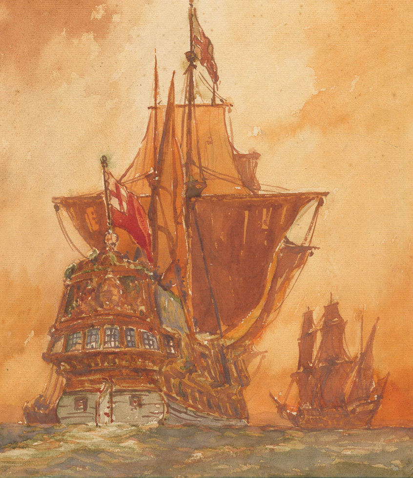 C. A. Wilkinson - Sailing Ship, Mid 20th Century Watercolour