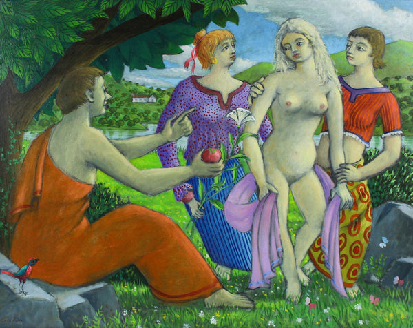 Cecil Riley - The Judgement of Paris, 1994 Oil