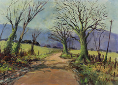 Reg Kidger - Tree-Lined Path, Original Contemporary Oil