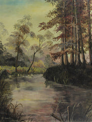 D. B. Handley - Forest Stream, Mid 20th Century Original Oil Painting
