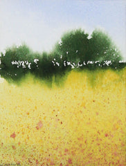 John Hunter - Yellow Fields, 1997 Watercolour