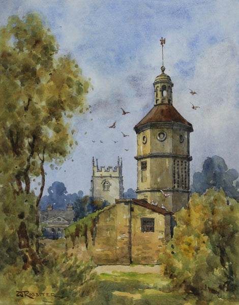 W. Rossiter - Dovecote, Widcombe, Original 19th Century Watercolour Painting