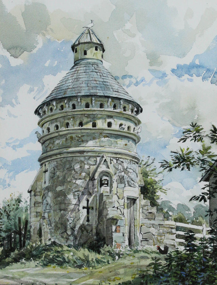 Peter Iden - Chapel, 1990 Watercolour