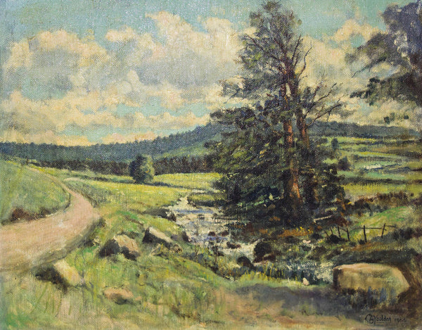 Charles A. Youldon - Near Bellever, Dartmoor, Original 1966 Oil Painting