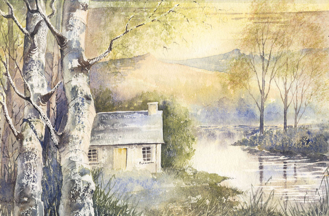 Hidden Cottage - H. Royston Hudson, Original Watercolour Painting