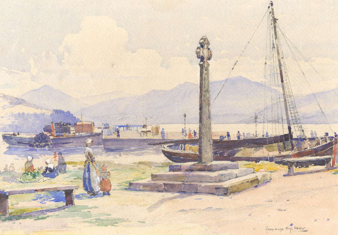 Archibald Kay R.S.W. - At the Shore, 19th Century Watercolour