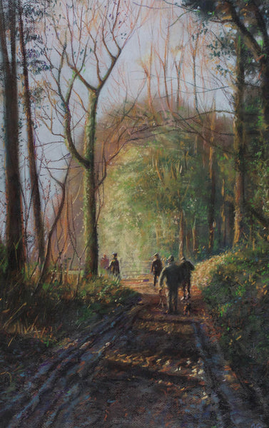 Andrew Quelch - Madgett's Farm, Beaters, Contemporary Pastel