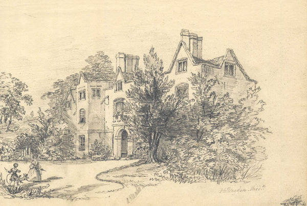 A. J. Moreton - Hillingdon, Middlesex, 19th Century Original Pencil Drawing