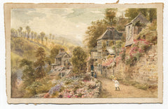 Ebenezer Wake Cook - Domfront, Original 19th Century Watercolour Painting