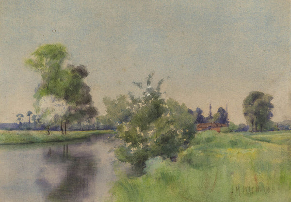 John M. Macintosh - On The Kennett Canal, Early 20th Century Original Watercolour