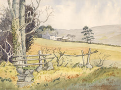 Maurice A. Greenwood RCA - Open Countryside, 1991 Original Watercolour