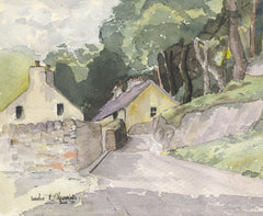 Maurice A. Greenwood RCA - Rural Path, 1971 Watercolour