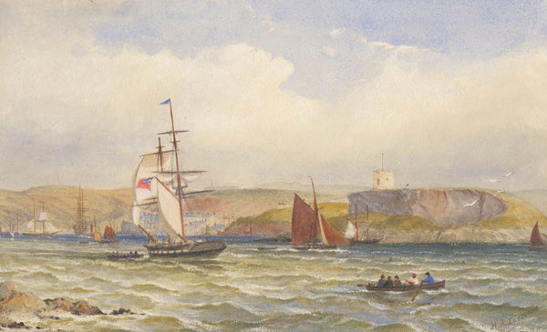 Henry Andrews Luscombe - Out To Sea, Original 19th Century Painting