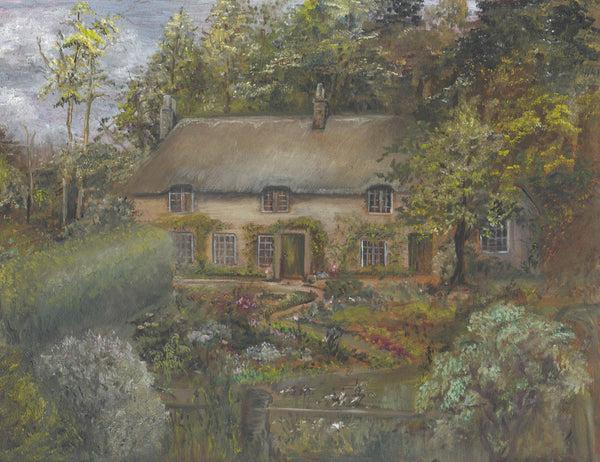 Country Cottage - Mid 20th Century Oil