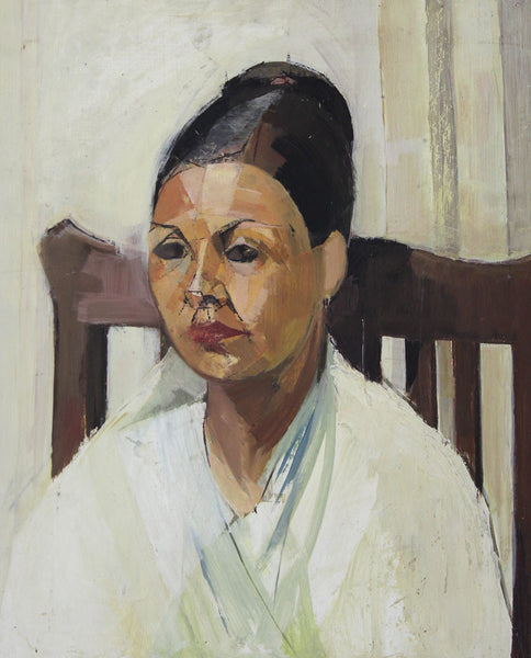 J. D. Ferguson Attrib. - Portrait of a Woman, 1954 Oil