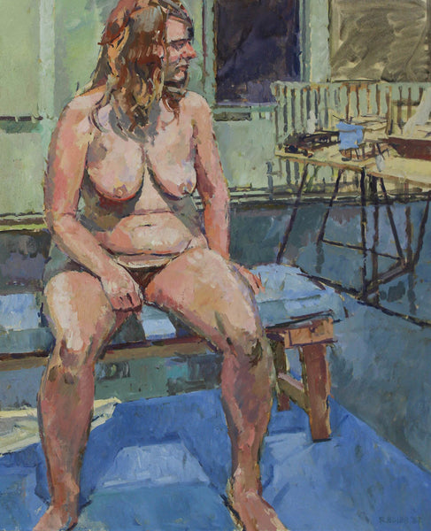 Roger Bliss - Leslie, Seated Nude, 1987 Oil