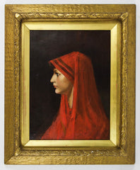 After Jean Jacques Henner - Saint Fabiola, 19th Century Oil