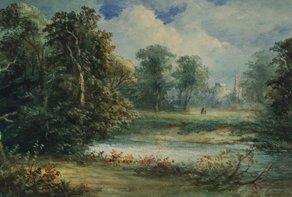 Frank Spenlove Spenlove - Country Walk, 19th Century Watercolour