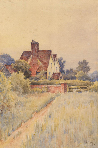 A. M. - Cottage, Early 20th Century Watercolour